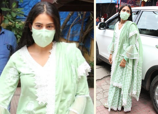 Sara Ali Khan's stylish avatar in a pastel green ethnic outfit!