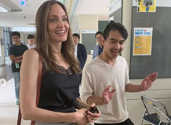 Angelina Jolie gets emotional as she drops off son Maddox at South Korea college!