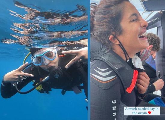 Priyanka Chopra Jonas's scuba diving along with Citadel crew!