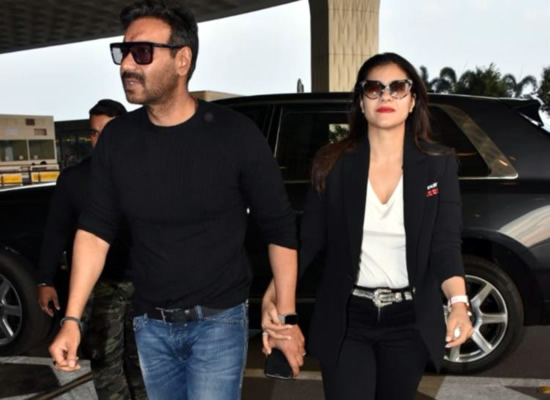Ajay Devgn and Kajol's stylish look at the airport!