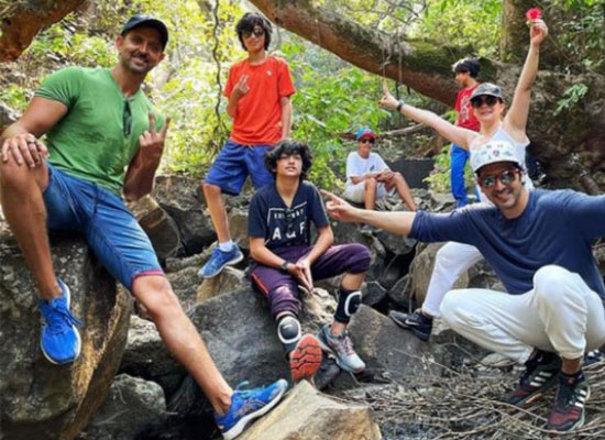 Hrithik Roshan's enjoyable trekking trip with kids Hrehaan and Hridhaan!