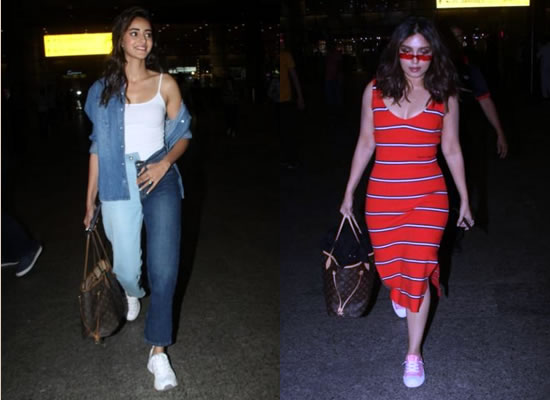 Ananya Panday and Bhumi Pednekar return to Mumbai in style!