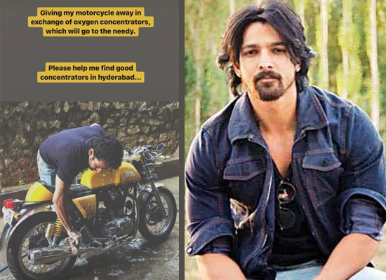 Harshvardhan Rane decides to sell off his bike to get oxygen concentrators!