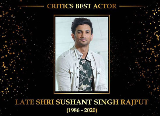 Late Sushant Singh Rajput honoured with Dadasaheb Phalke award for 'Critics Best Actor'!
