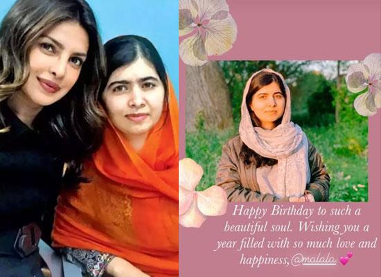 Priyanka Chopra Jonas's endearing birthday note for 'beautiful soul' Malala!