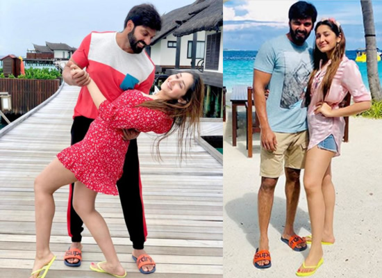 Sayyeshaa Saigal's romantic moments with hubby Arya in Maldives!