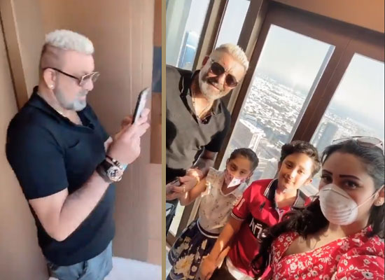 Sanjay Dutt's loveable moments with family in Dubai!