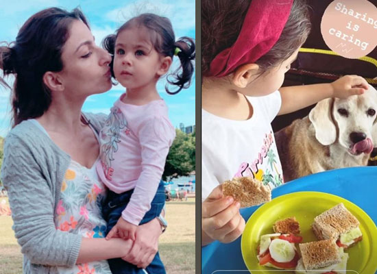 Soha Ali Khan to share a lovely pic of daughter Inaaya with her furry friend!