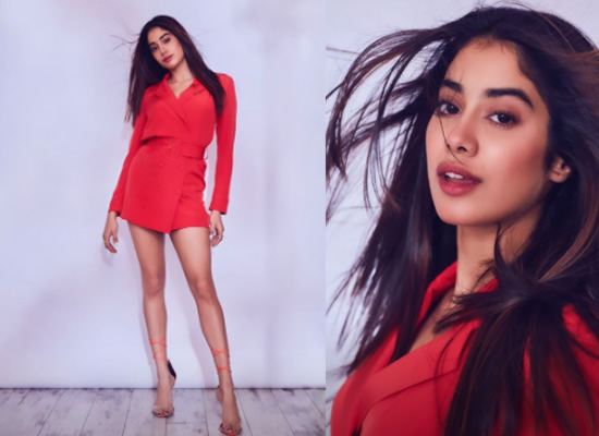 Janhvi Kapoor's stylish avatar in a red outfit!