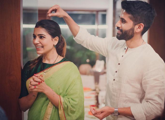 Samantha's priceless moments with hubby Naga from Rana Daggubati's wedding muhurtham!