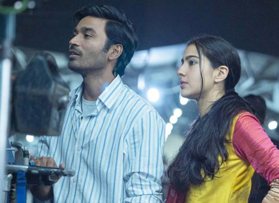 Sara Ali Khan and Dhanush's BTS pic from Atrangi Re''s sets!