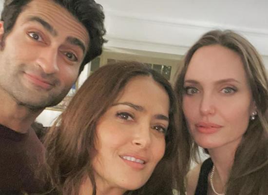 Salma Hayek's selfie moments with Angelina Jolie and Kumail Nanjiani!