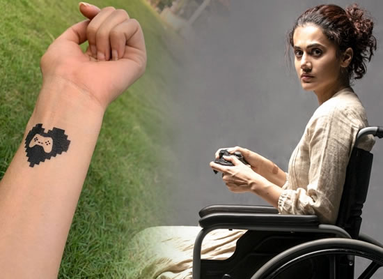 TAAPSEE PANNU'S TEMPORARY TATTOO FOR GAME OVER!