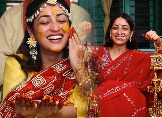 Yami Gautam to share lovely pics from her wedding's Haldi ceremony!
