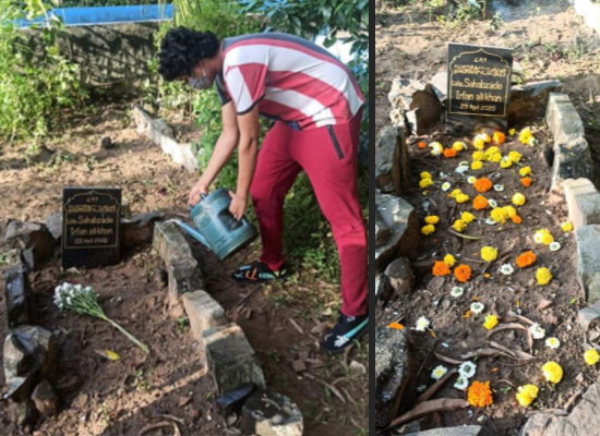 Irrfan Khan's son Babil to share snaps of the late actor's grave in Mumbai!
