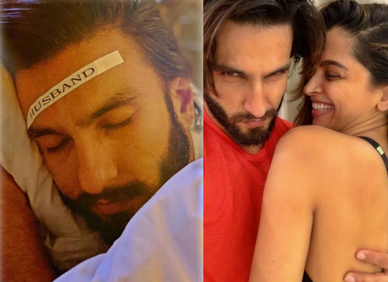 Deepika Padukone put a 'Husband' stamp on Ranveer Singh's forehead amid lockdown!
