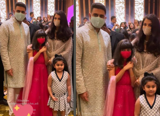 Aishwarya, Abhishek and Aaradhya Bachchan's perfect family photo at a wedding!