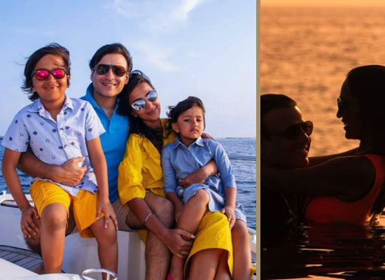 Vivek Oberoi's loveable moments with family in Maldives!