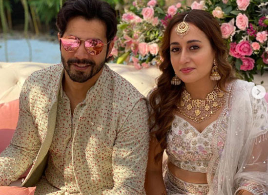 Varun Dhawan and Natasha Dalal look stunning during Mehendi ceremony!