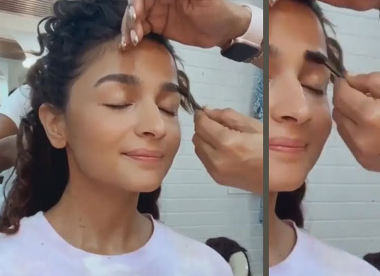 Alia Bhatt to share a glimpse of her makeup session from the RRR's sets!