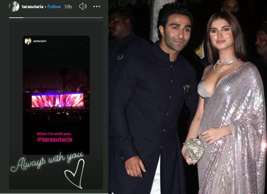 Tara Sutaria's loveable message for boyfriend Aadar Jain in her recent post!