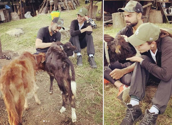 Anushka Sharma and Virat Kohli's lovely moments with furry animals in Bhutan!