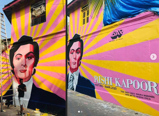Artists pay an artsy tribute to the legendary star Rishi Kapoor!