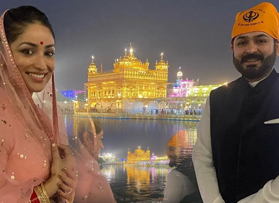 Yami Gautam and Aditya Dhar's first visit to Golden Temple after marriage!