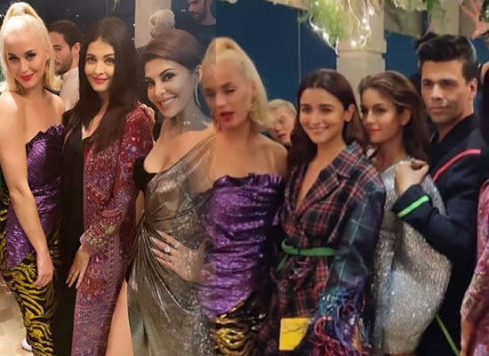 Katy Perry gets a warm welcome from celebs at Karan Johar's party!