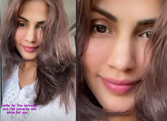 Rhea Chakraborty urges fans to smile for the universe!