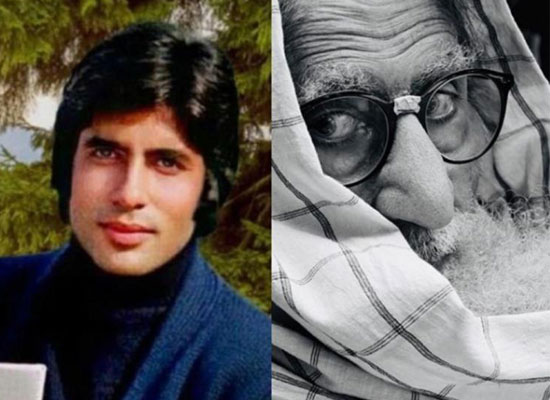 Big B's thoughtful post with a THEN and NOW pic of himself!