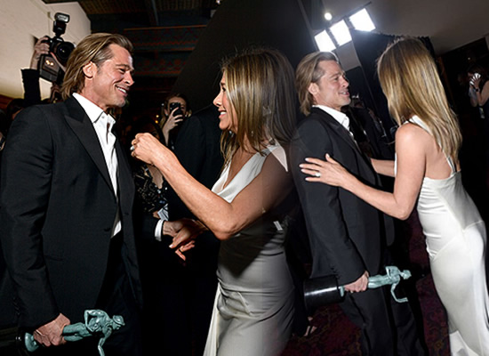 Brad Pitt and Jennifer Aniston's lovely reunion at SAG Awards 2020!