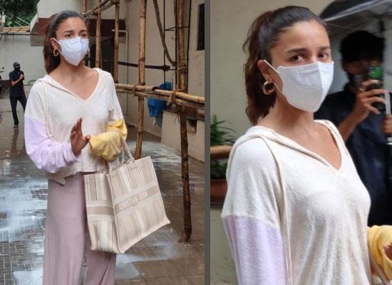 Alia Bhatt's fashionable avatar in sweatshirt and flared pants!