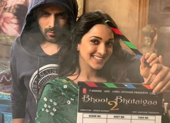 Kartik Aaryan to share a pic of Kiara Advani holding the clap board of Bhool Bhulaiyaa 2!