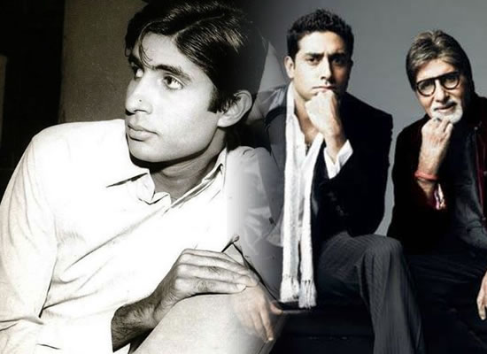 Abhishek celebrates 50 years of Big B's Bollywood journey with a throwback photo!