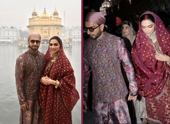 Deepika and Ranveer to visit Golden Temple on their first wedding anniversary!