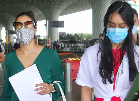 Actress Kajol and daughter Nysa Devgan's stylish airport look!