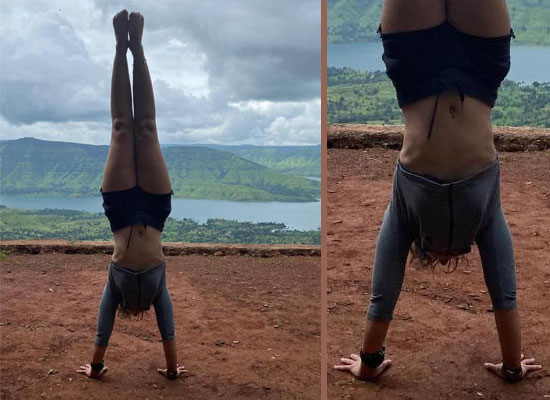 Star kid Ira Khan's motivational handstand!