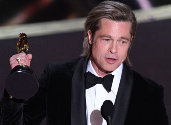 Brad Pitt dedicates his Oscars 2020 Academy Award to his kids!