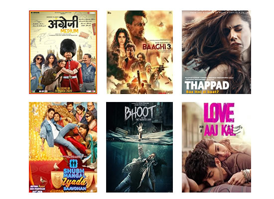 Latest Box Office for this week 23rd March, 2020!