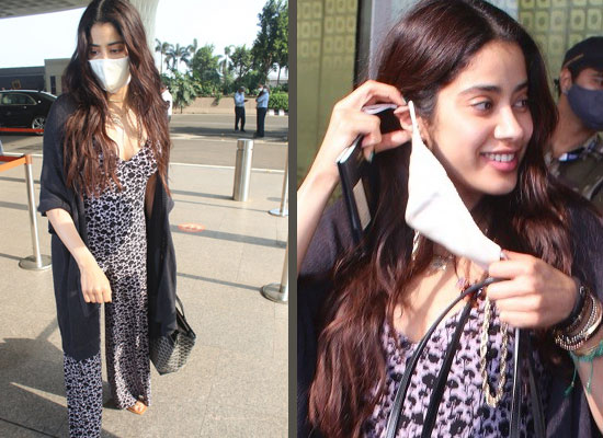 Janhvi Kapoor's chic avatar in her monochrome jumpsuit at the airport!