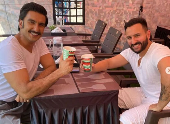 Ranveer Singh and Saif Ali Khan to enjoy a cup of coffee together on the sets!