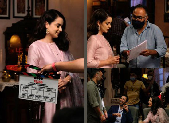 Kangana Ranaut's first look from sets with the crew of Tejas!