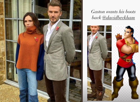 Victoria Beckham pokes fun at David Beckham's shoe choice!